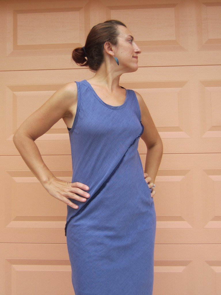 Indigo and Mini Stripe Voile Bias Dresses