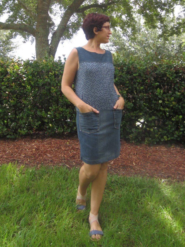 Anne Klein Vogue Designer Patterns V1382 Shift Dress, Refashion, Sew Pomona