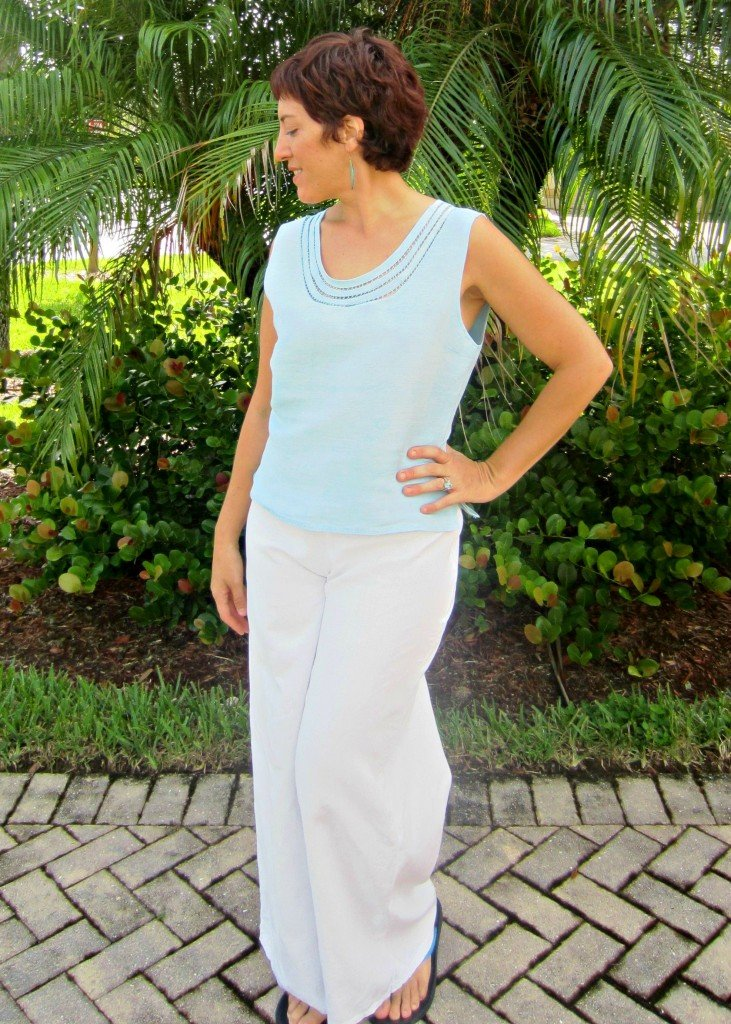 Rouleau Edged Top and Holly Pants, Look 2, Sew Pomona
