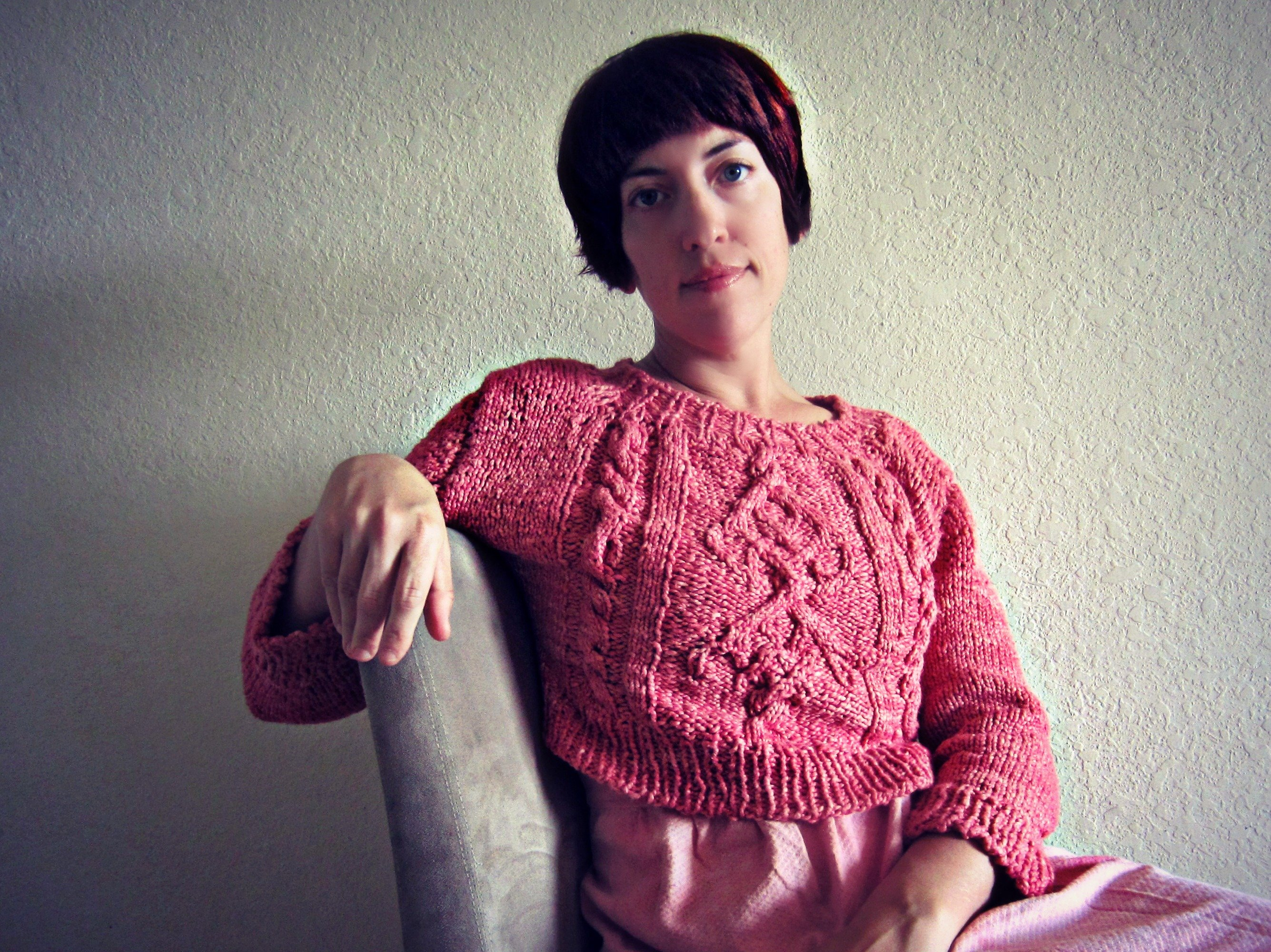 Knit + Dye- Slow October's Chuck Sweater