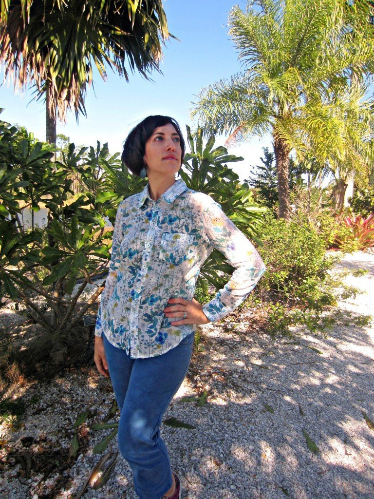 Sewaholic's Granville Shirt in Liberty Silk from Mood Fabrics, at Sew Pomona