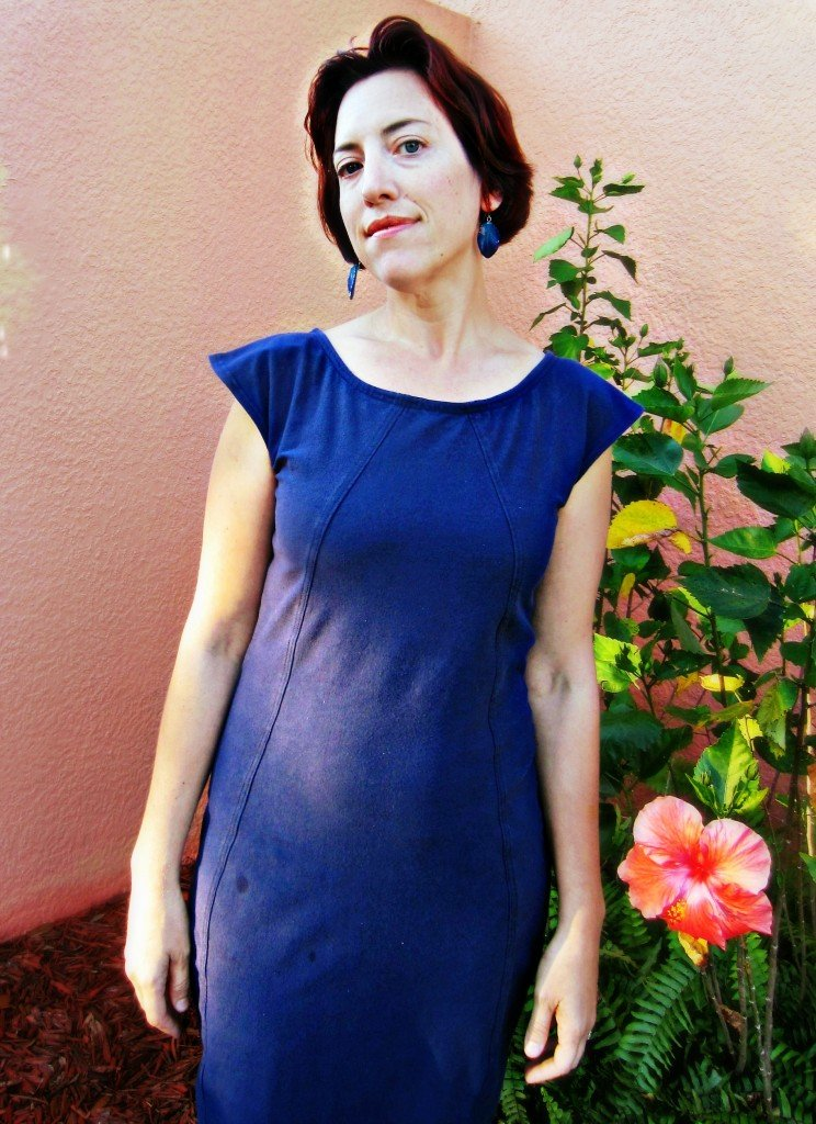 Navy Midi Dress and Birthday Recap at Sew Pomona