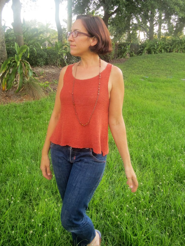 MMM Day 1- Knitted Lina Tank and Embroidered Jeans