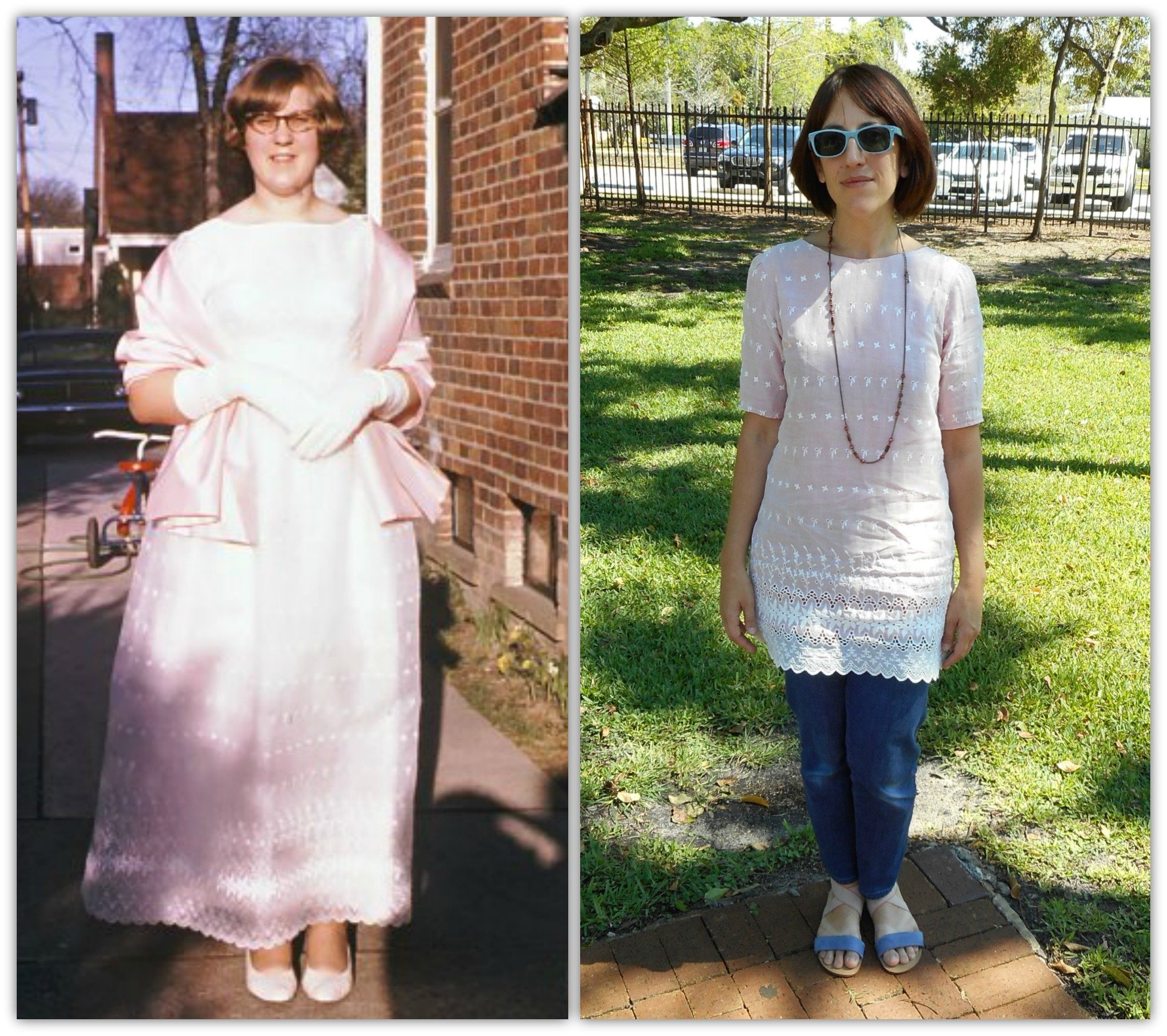 Lovely Laurel-Vintage Prom Dress Refashion