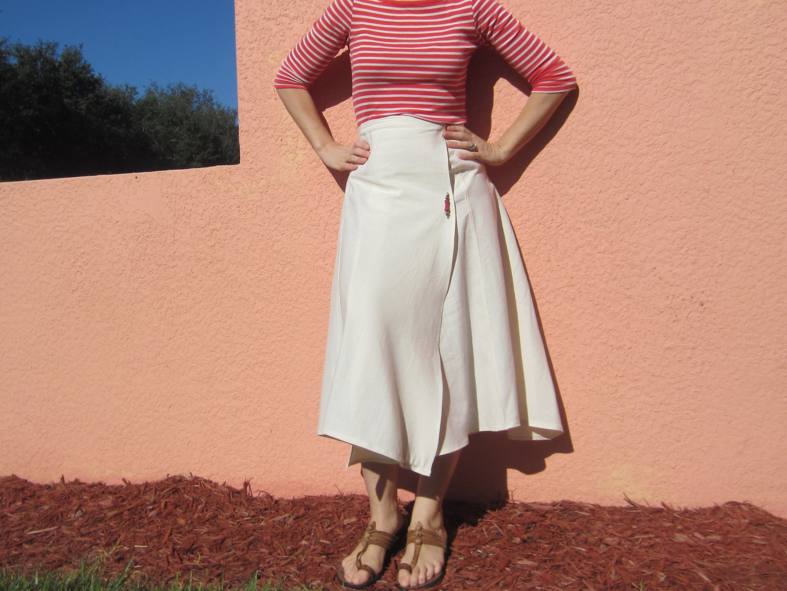Reversible Wrap Skirt Sew Pomona