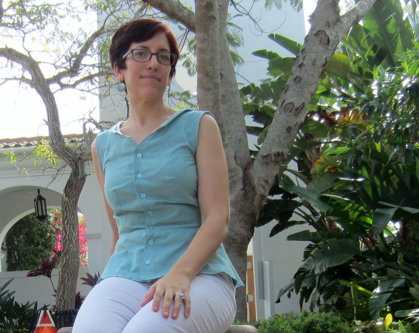 Sewing Double- Colette Hawthorn Peplum- Sew Pomona