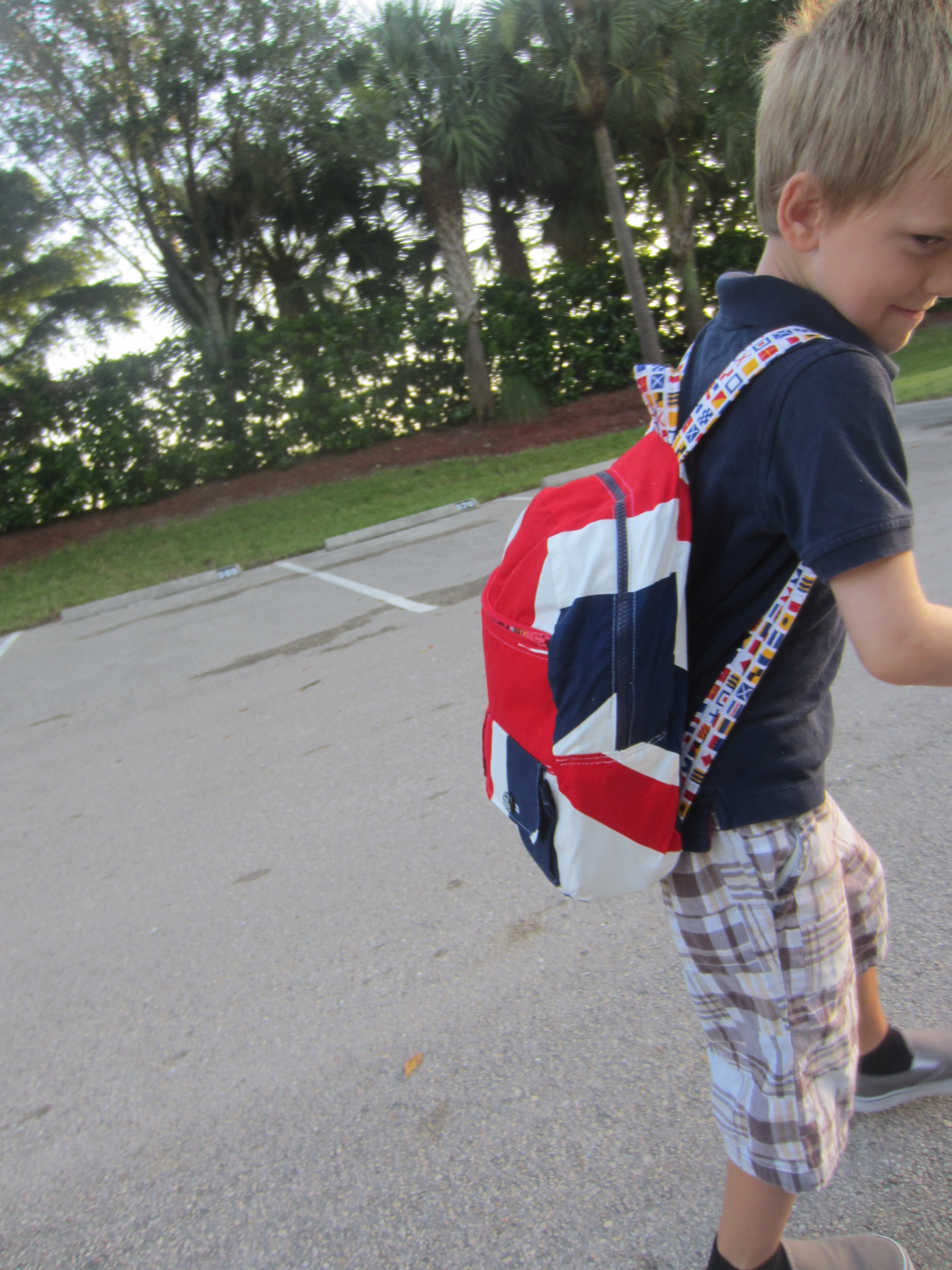 Back to school backpack-McCall's- M6410 and fabrics from Sew Modern