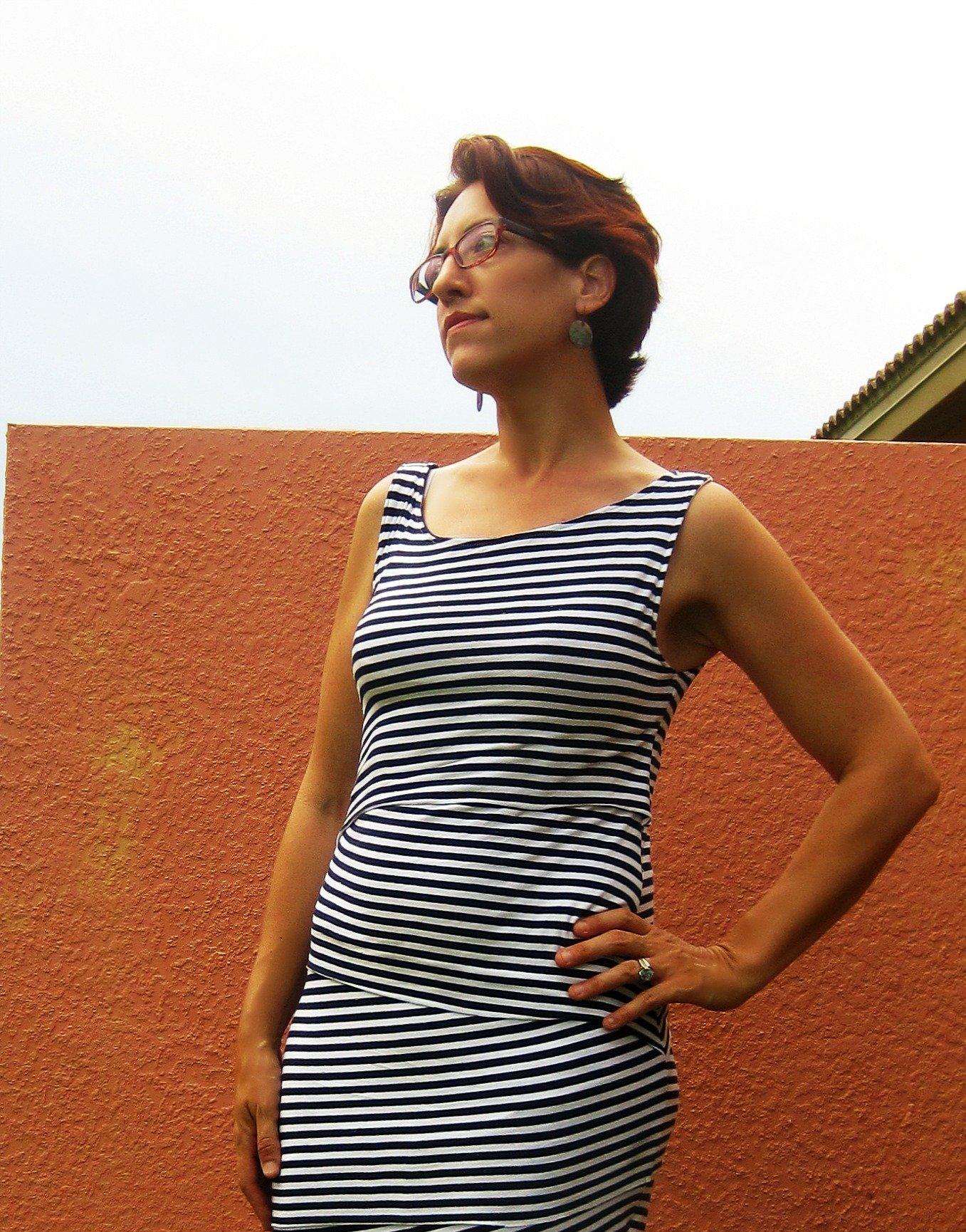Marcy Tilton Shingle Dress, V8904 Sew Pomona