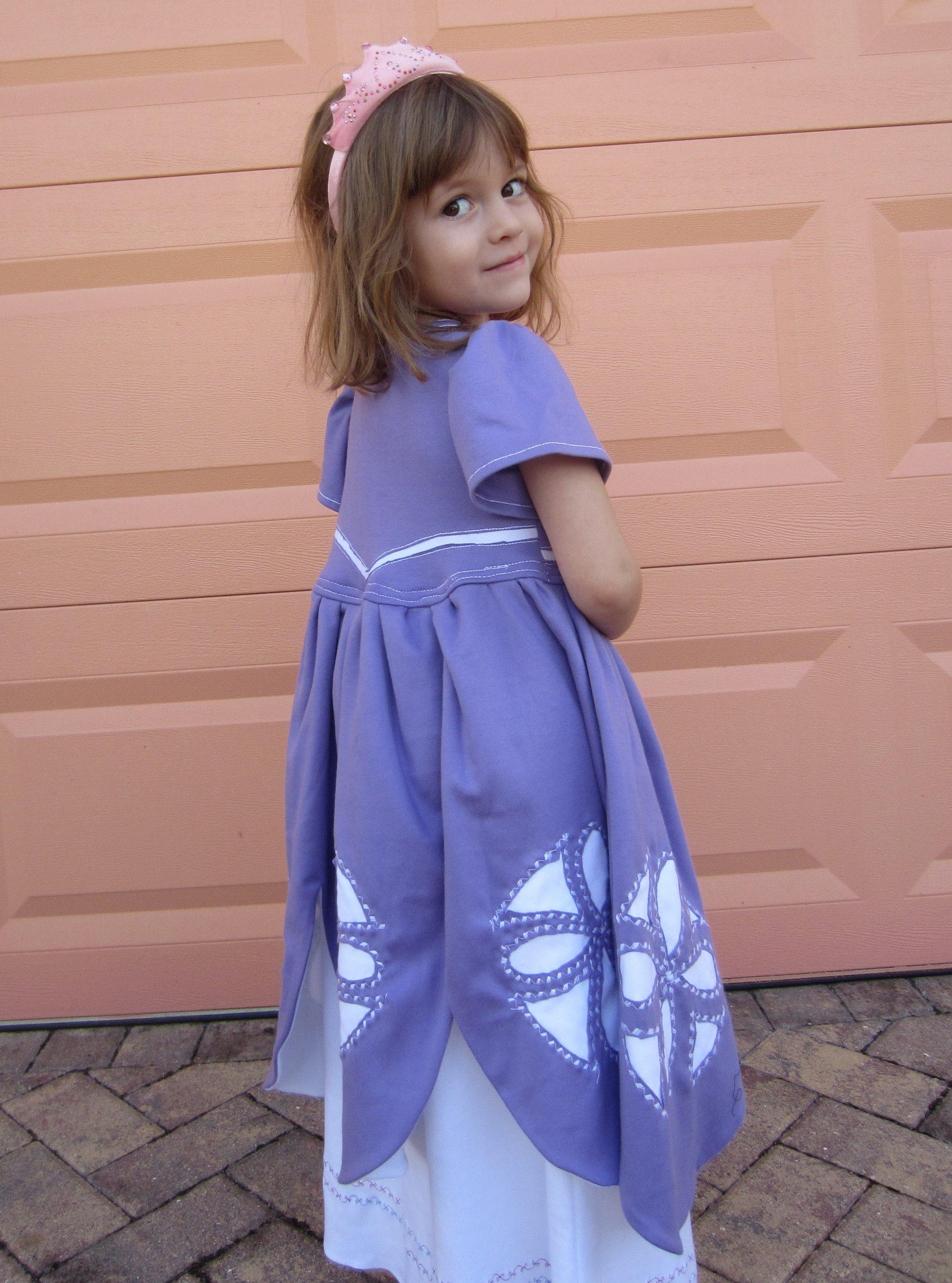 Sofia the First: Reverse Applique Knit Dress