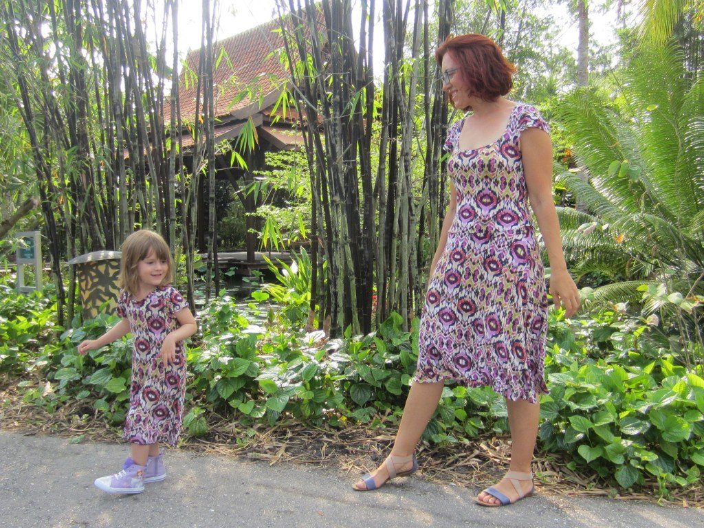 mommy and me skater dresses, ikat knit, lady skater