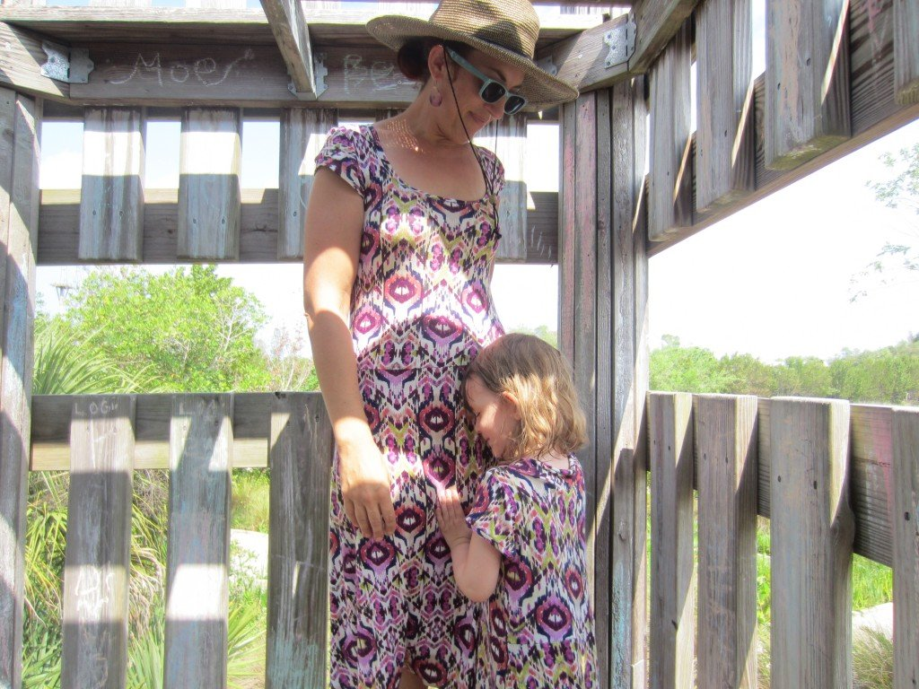 Mommy and Me Skater Dresses in ikat knit