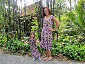 Mommy and me Skater Dresses, ikat knit