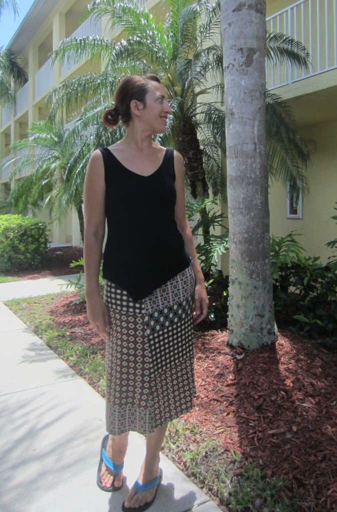 MMM Day 6- Refashioned Tank and knit skirt.  Sew Pomona