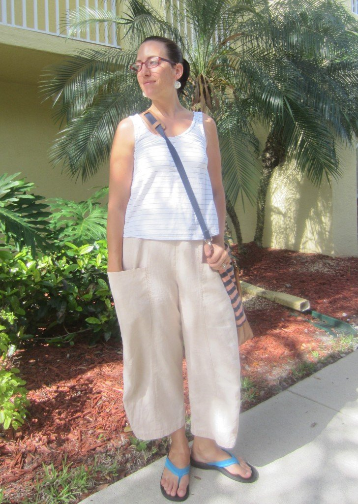 MMM Day 11- Grainline Tank and Marcy Tilton Pants.  Sew Pomona