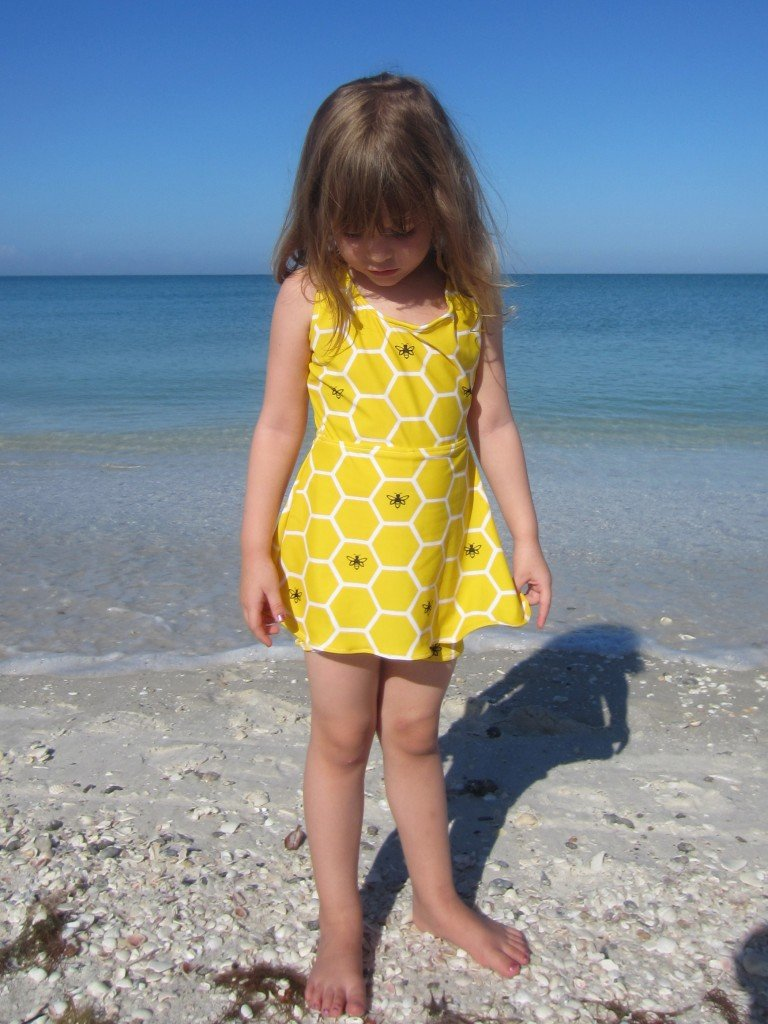Flora Skirted Swimsuit, Sew Pomona