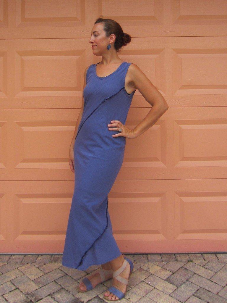 Bias Tube Dress in Organic Voile, Sew Pomona