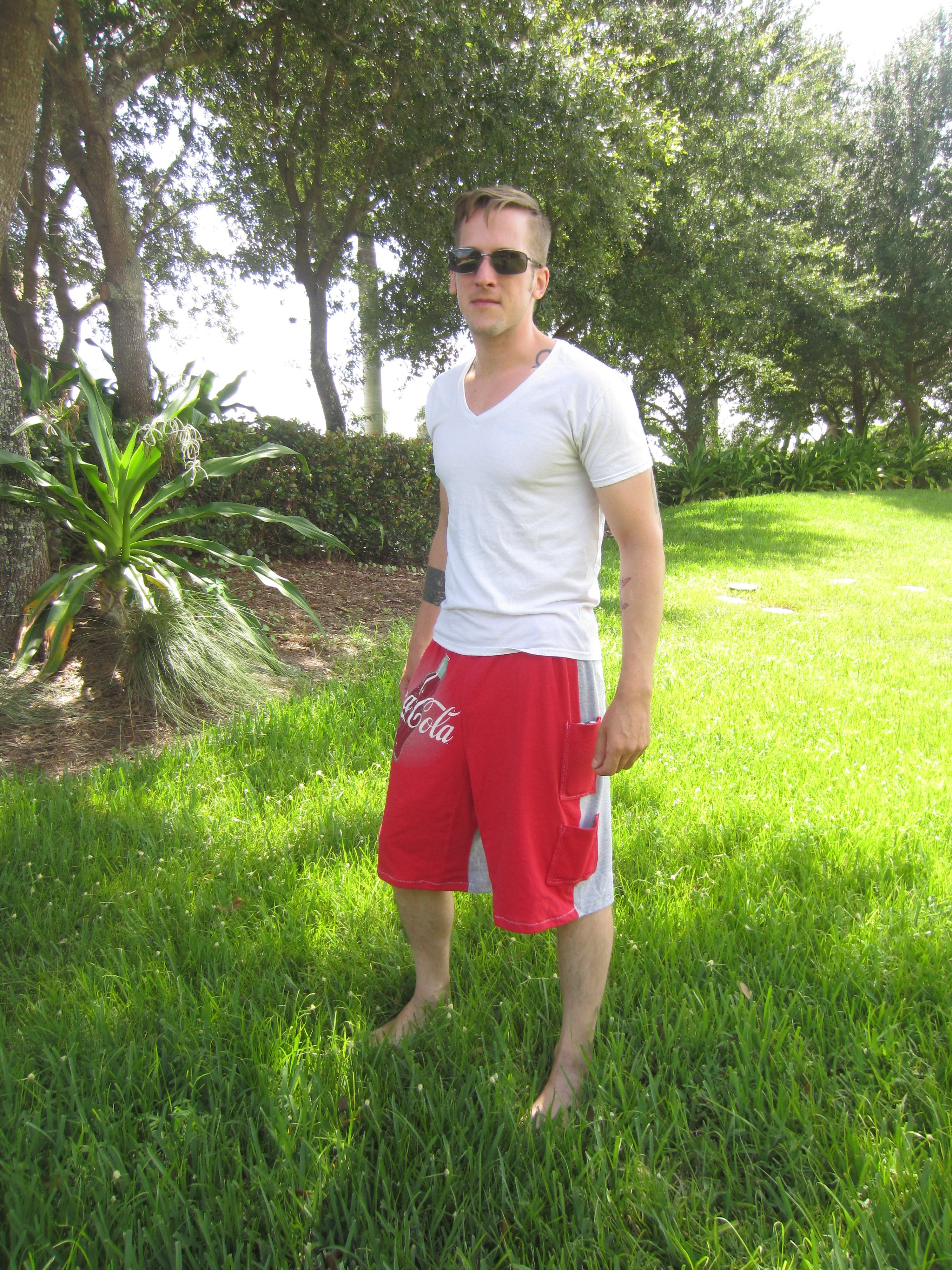 Refashioned Tee Shorts