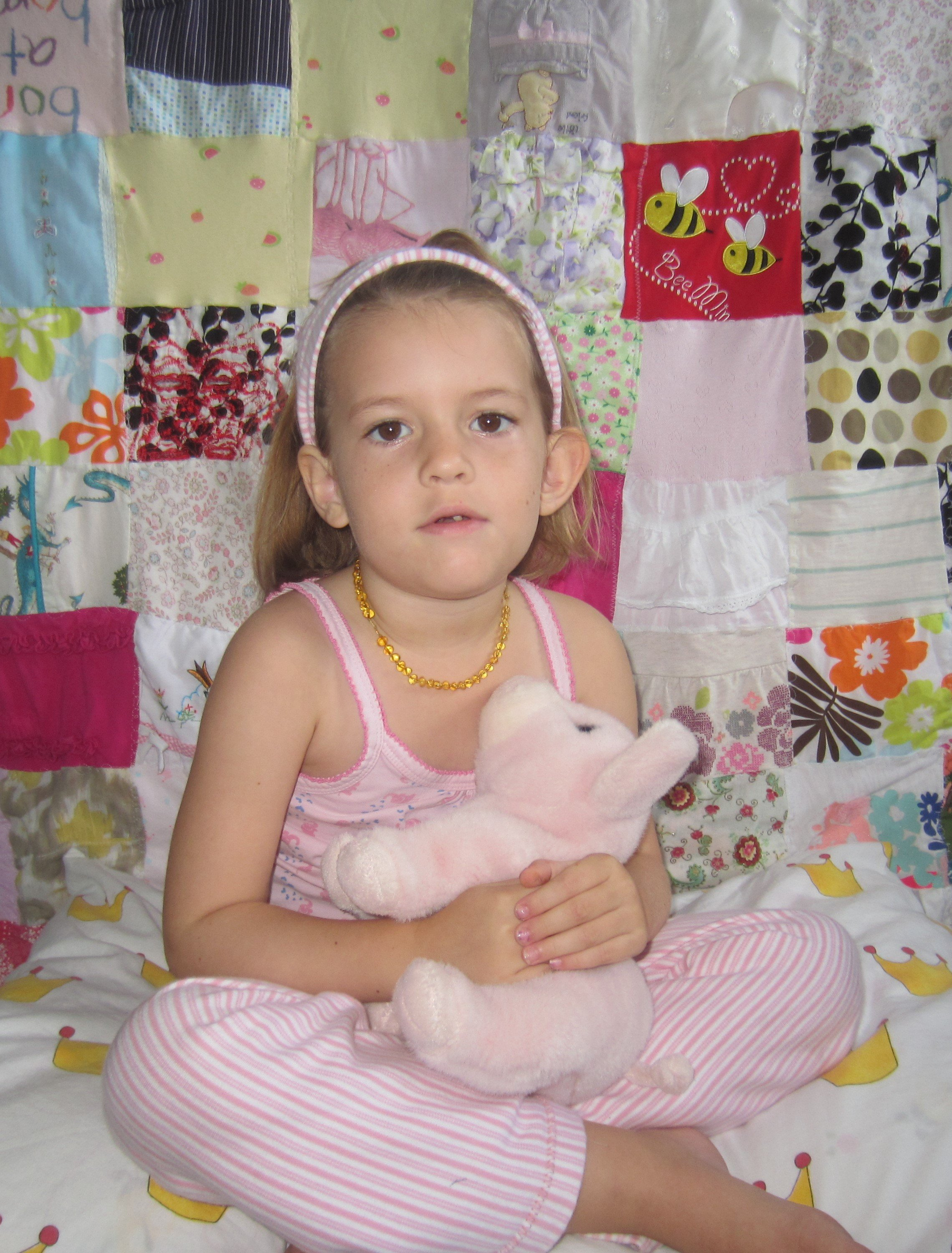 Baby Clothes Memory Quilt and PJ's for Ami