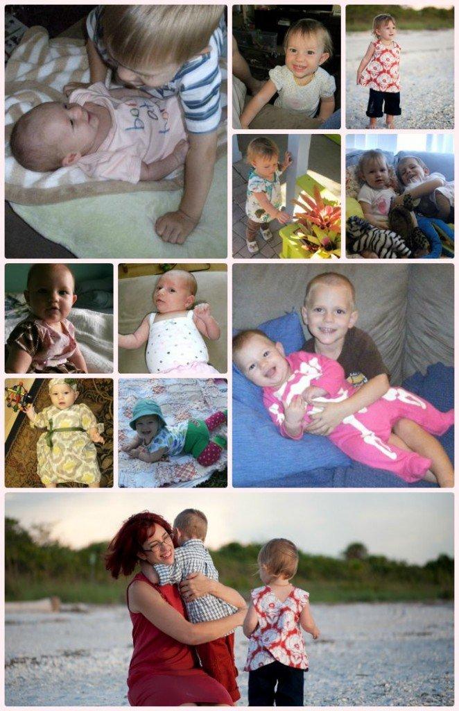 Ami's baby clothes-memory quilt, Sew Pomona
