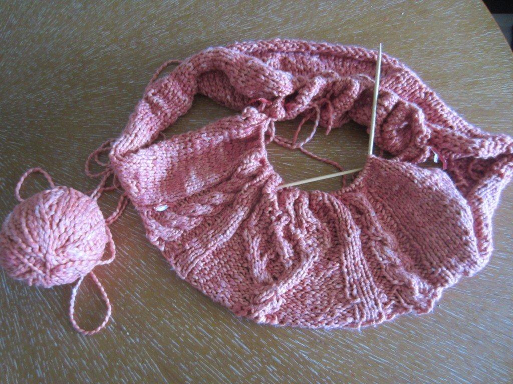 Slow Knitting for #slowfashionoctober handdyed knitted crop sweater, Sew Pomona