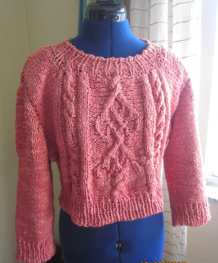 Slow Fashion October-Hand dyed and Knitted sweater, Sew Pomona