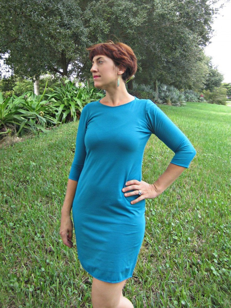 Sacre Bleu Knit Dress, Sew Pomona