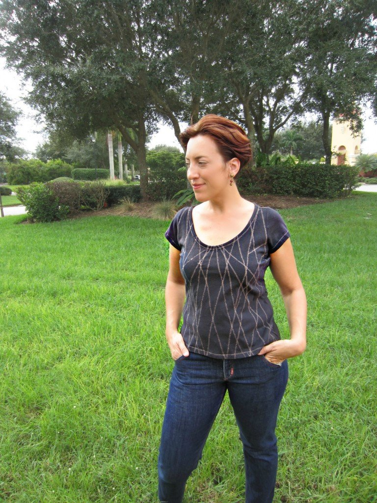 In Stitches, Navy Tee at Sew Pomona