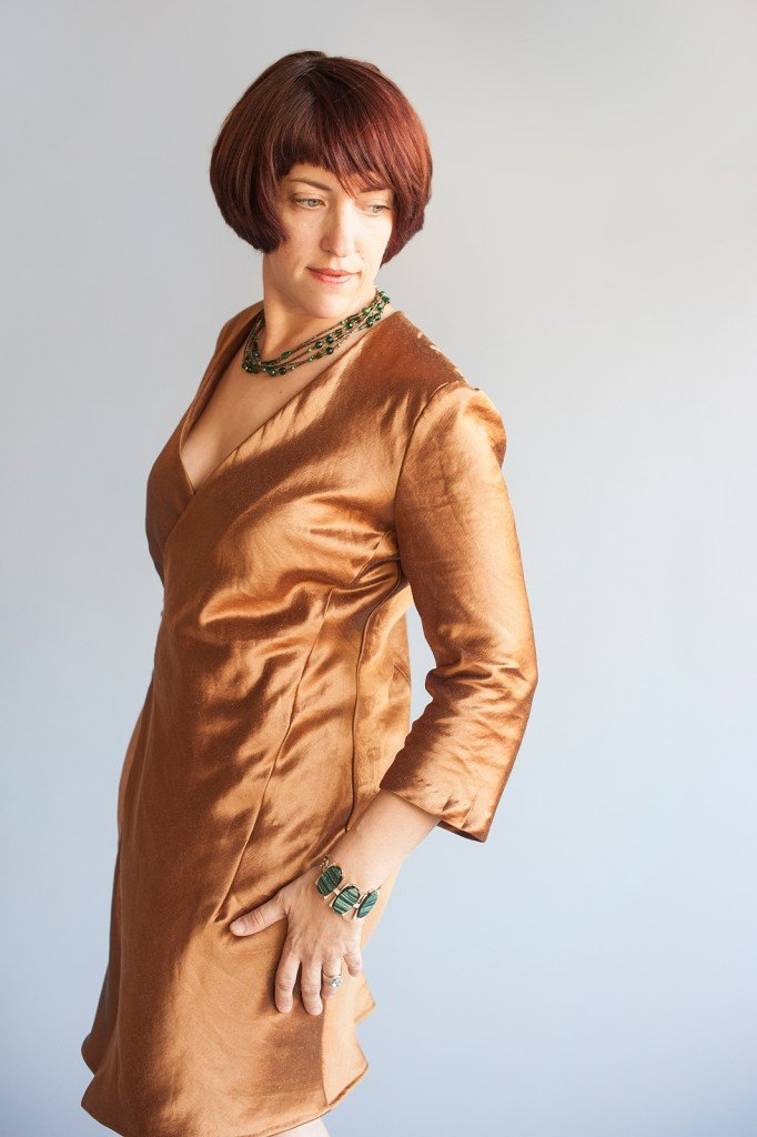 Donna Karan Vogue Patterns V1384 in Autumn Hemp Silk from Organic Cottons Plus, Photography courtesy of Megan DiPiero Photography, Sew Pomona Blog