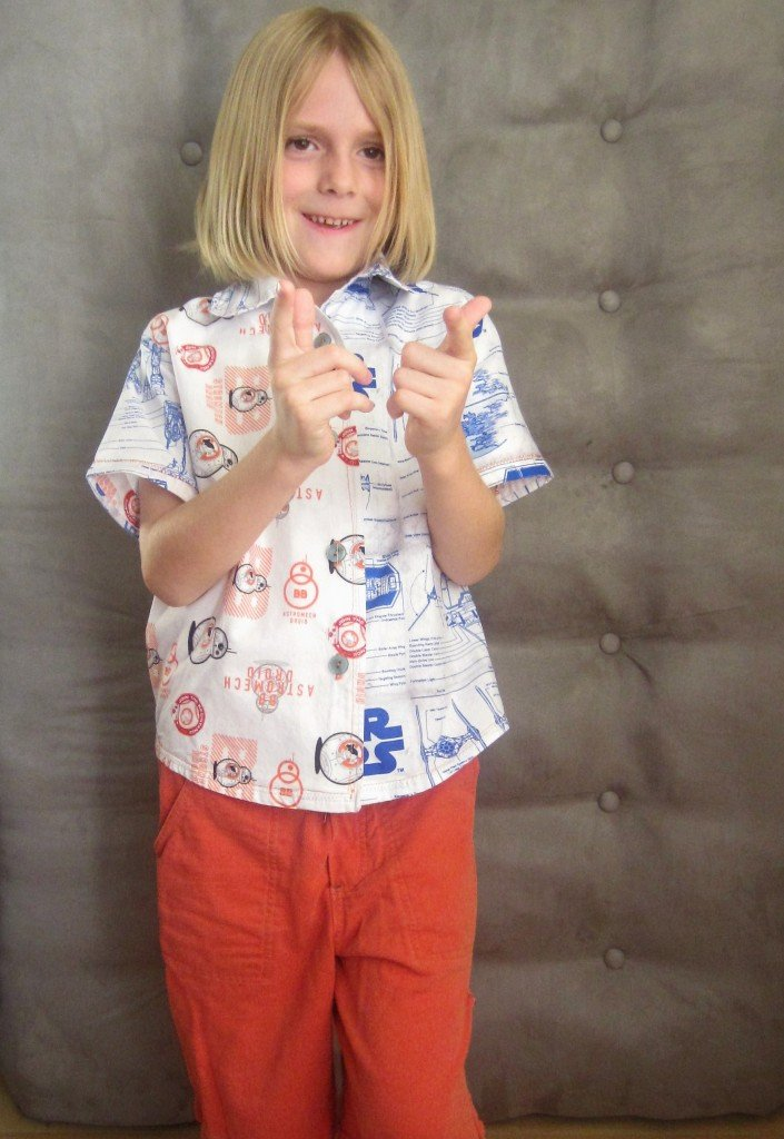 Star Wars Boy's Shirt M6548 Handmade Christmas at Sew Pomona