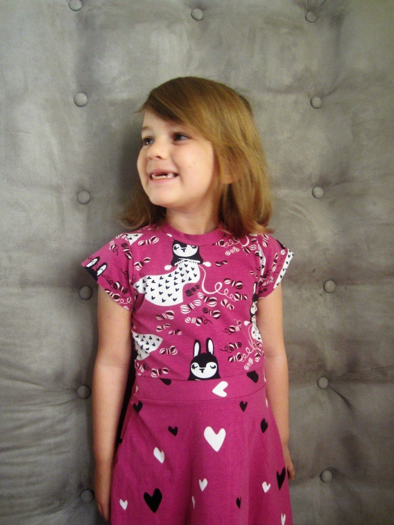 Girls Skater Dress-Pattern(modified) and Fabrics from Kitschy Coo at Sew Pomona