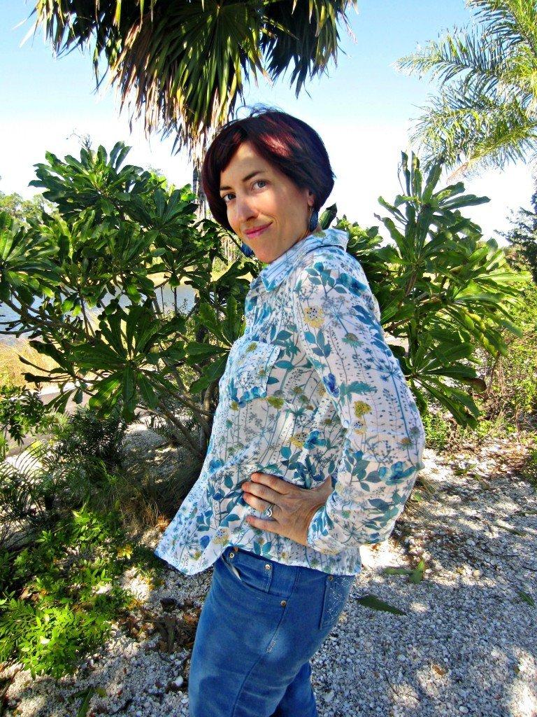 Sewaholic's Granville Shirt in Liberty Silk from Mood Fabrics, at Sew Pomona