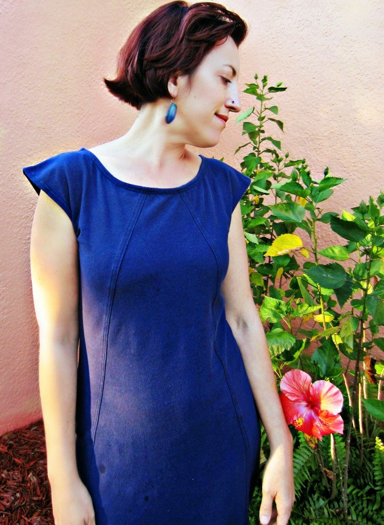 Fashioning the 70's Exhibit and Navy Midi Dress, Sew Pomona