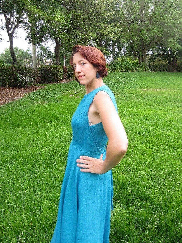 Vintage Vogue V8788 Wrap Dress in Linen