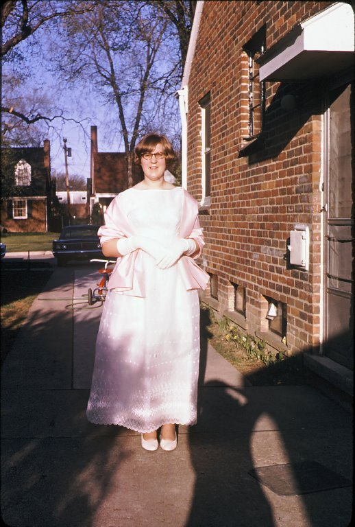 My Mom cicra 1966 Handmade Dress. Lovely Laurel-Vintage Prom Dress Refashion