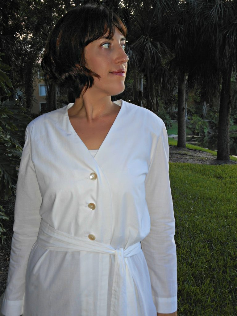 Yves Saint Laurent Vogue Paris Original V2180 in Organic Cotton Batiste from Organic Cottons Pls, Sew Pomona Blog