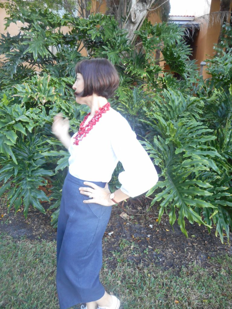Work Wardrobe: Lantern Sleeve Blouse and Denim Culottes