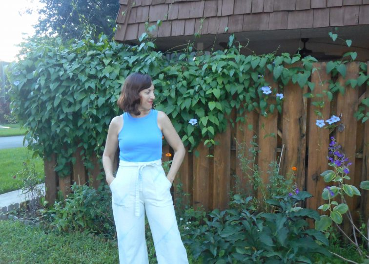 Vintage Butterick 4659 Indigo Dyed Pant and Regatta Rib Knit Tank