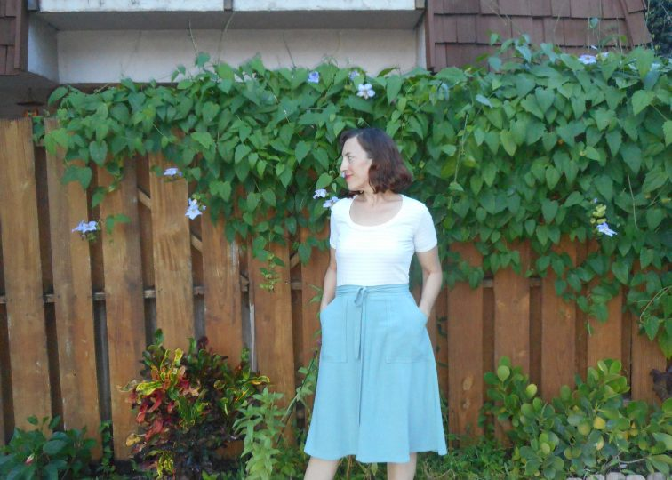 Vintage Butterick 4659 Skirt and Striped Tee