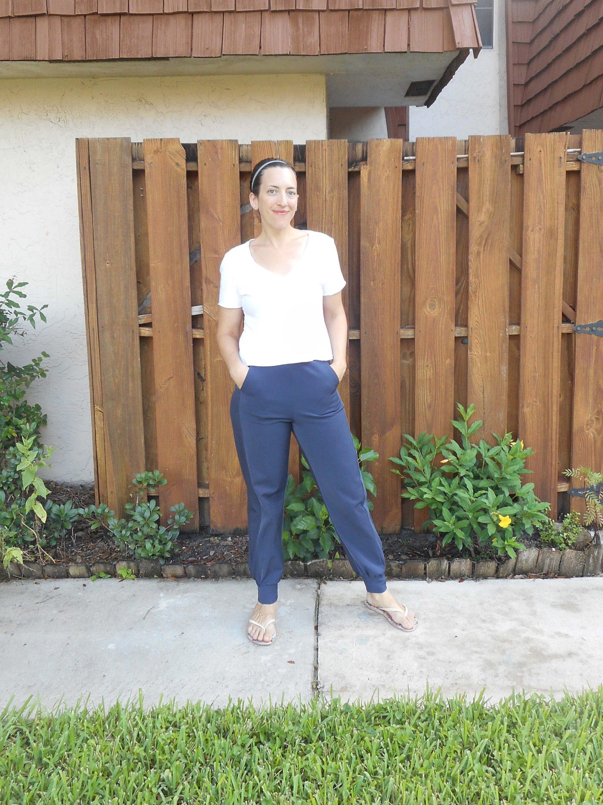 Basics Sewing: Sweatpants and White V-neck Tee