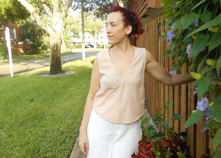 Self Drafted V Neck Darted Tank