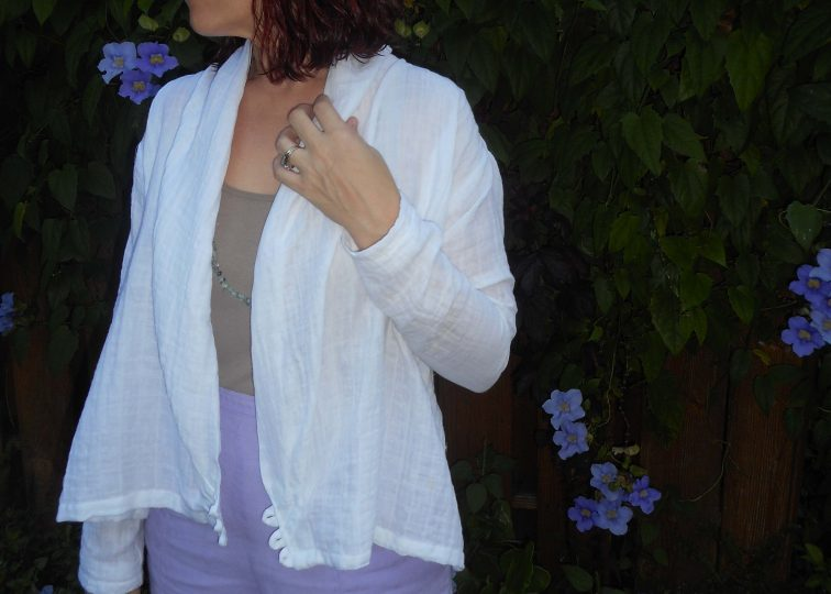 White Double Gauze Salsa Blouse