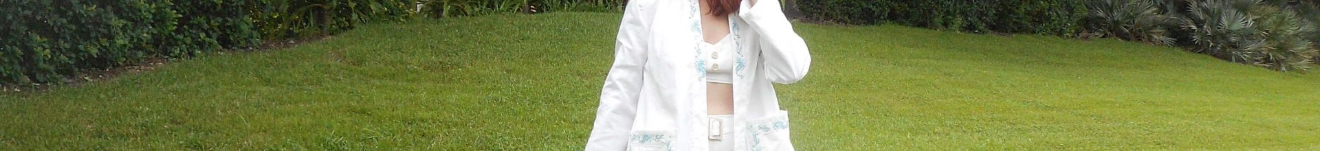 Vintage 1950's Seahorse Embroidered Beach Jacket, McCall 1524